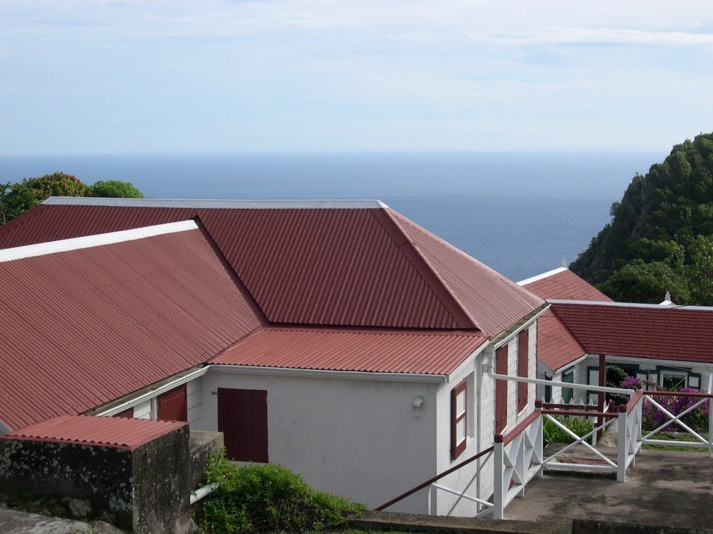 metal roofing on flat roof